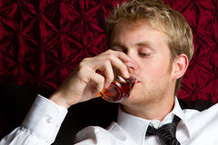Man Drinking Alcohol Stock Images
