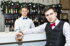 Man drinking alcohol Stock Photo