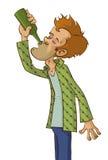 Man drinking alcohol Stock Image