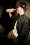Man Drinking Alcohol in Urban Setting Royalty Free Stock Photos