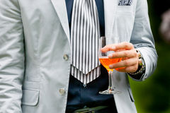 Man drinking aperitif Royalty Free Stock Photos