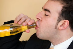 Free Man Drinking Beer Royalty Free Stock Photo - 13618475