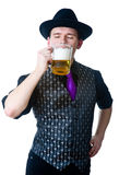 Man drinking beer Stock Photos