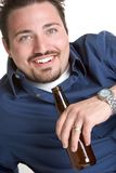 Man Drinking Beer Royalty Free Stock Photos