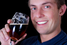 Man drinking a beer Royalty Free Stock Photo