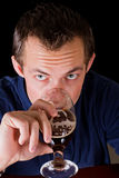 Man drinking a beer Royalty Free Stock Images
