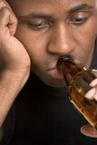 Man Drinking Beer royalty free stock photography