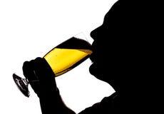 Man Drinking Beer Silhouette