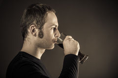 Man drinking beer. Royalty Free Stock Image