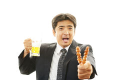 Man drinking beer Stock Photography