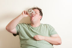 Man drinking beer Royalty Free Stock Photo