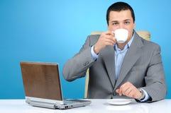Man drinking coffee Stock Image