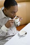 Man drinking coffee. Stock Photo