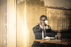 Man drinking coffee Royalty Free Stock Image