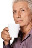 Man drinking coffee Stock Photos