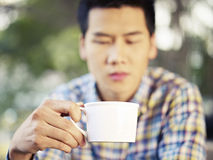 Man drinking coffee Stock Photo
