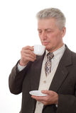 Man drinking from a cup Royalty Free Stock Images