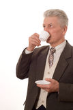 Man drinking from a cup Stock Image