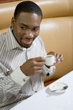 Man drinking expresso. Royalty Free Stock Images