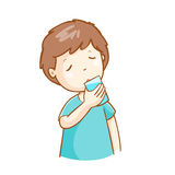 Man drinking glass of water  illustration Stock Photos