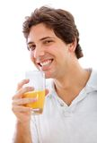Man drinking juice Royalty Free Stock Images