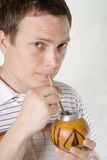 Man drinking mate Royalty Free Stock Photography