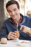 Man drinking Mate Stock Photo