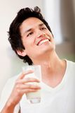 Man drinking milk Royalty Free Stock Image