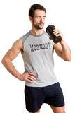 Man Drinking Protein Shake Royalty Free Stock Photos