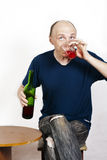 Man drinking red wine Royalty Free Stock Image