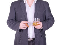 Man drinking and smoking Royalty Free Stock Images