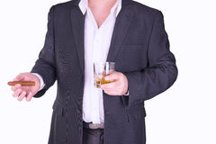 Man drinking and smoking Royalty Free Stock Photography