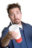 Man Drinking Soda Stock Photo