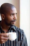 Man drinking tea Royalty Free Stock Images
