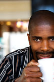 Man drinking tea Royalty Free Stock Images