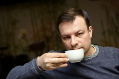 Man drinking tea Royalty Free Stock Photos