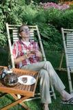 Man drinking tea Stock Image