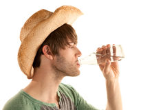 Man drinking water Stock Photos
