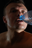 Man drinking water Stock Image