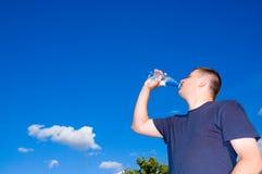 Man drinking water Stock Photo