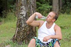 Man drinking water Royalty Free Stock Photo