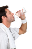 Man drinking water Royalty Free Stock Photos