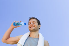 Man drinking water after the sport Royalty Free Stock Photo