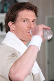 Man drinking water after workout Royalty Free Stock Photo