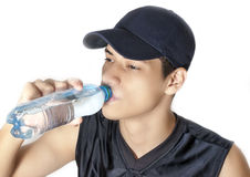 Man drinking water Royalty Free Stock Image
