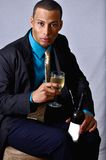 Man drinking wine Royalty Free Stock Photo