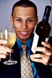 Man drinking wine Stock Photography