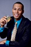 Man drinking wine Royalty Free Stock Image