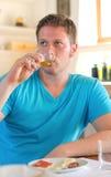 Man drinking wine. Stock Image