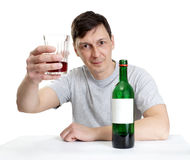 The man drinks royalty free stock photo